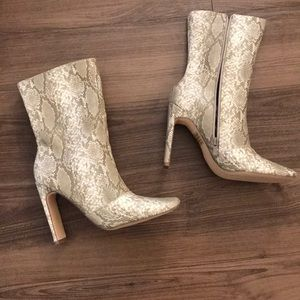 Faux snakeskin heeled boots *NEW*